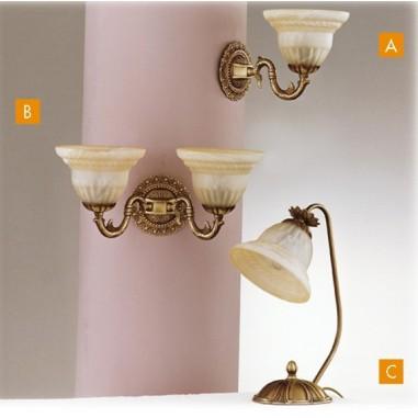 Lámpara Colgante de Bronce 2 luces, Tulipa de Cristal. Bombillas ...