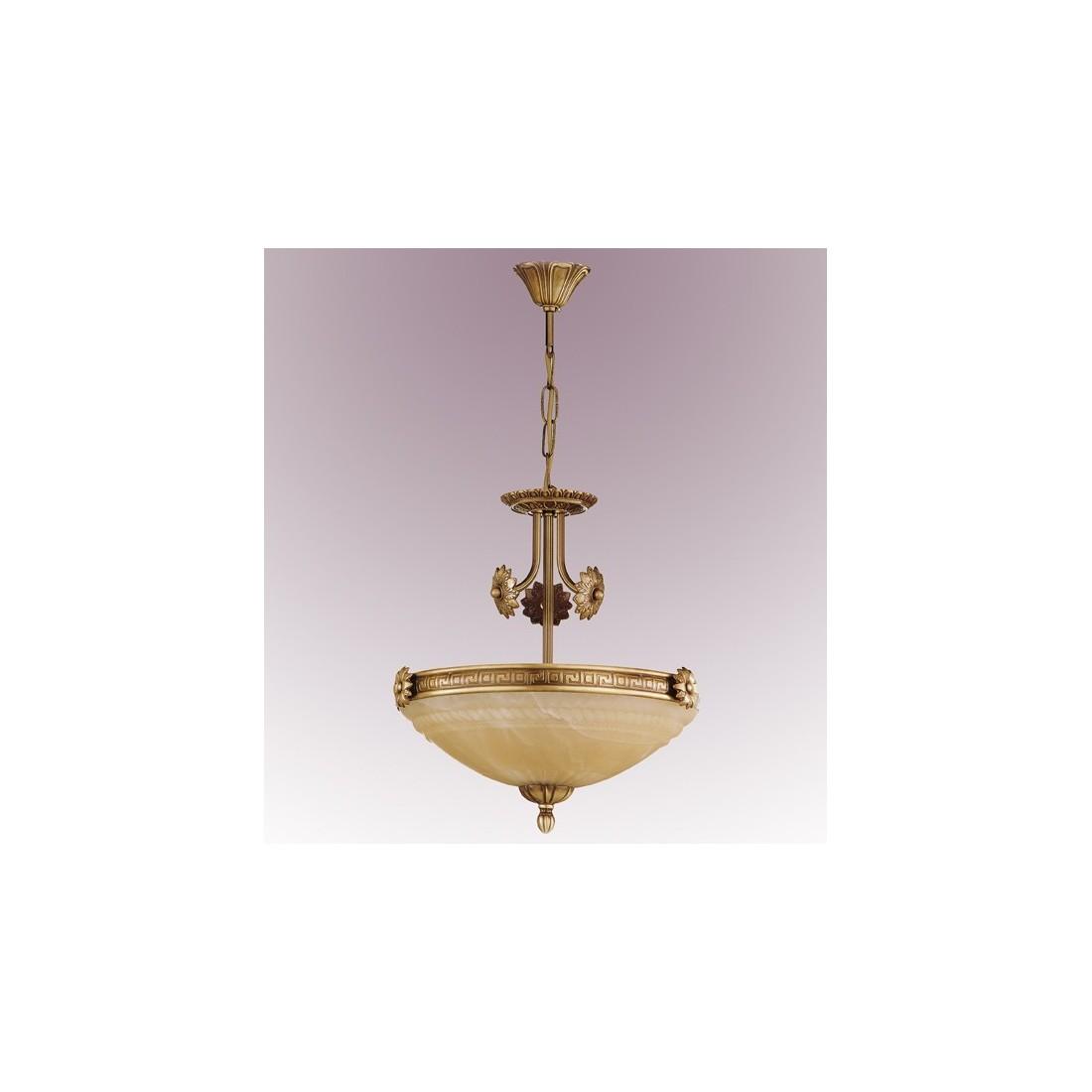 L mpara de bronce y cristal de murano env o r pido y seguro - Lamparas de cristal de murano ...