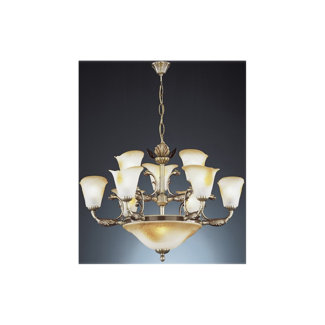Cristal de murano color mbar l mpara env o r pido y seguro for Lamparas vintage baratas