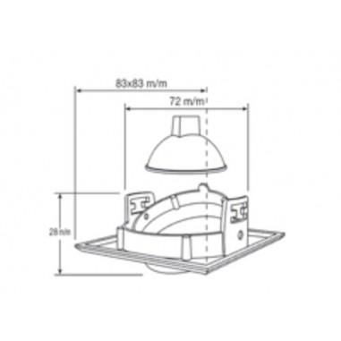 Plaf n de techo fluorescente acabado naranja para cocina a reo electr nico 2pl36w bombillas - Lampara fluorescente cocina ...