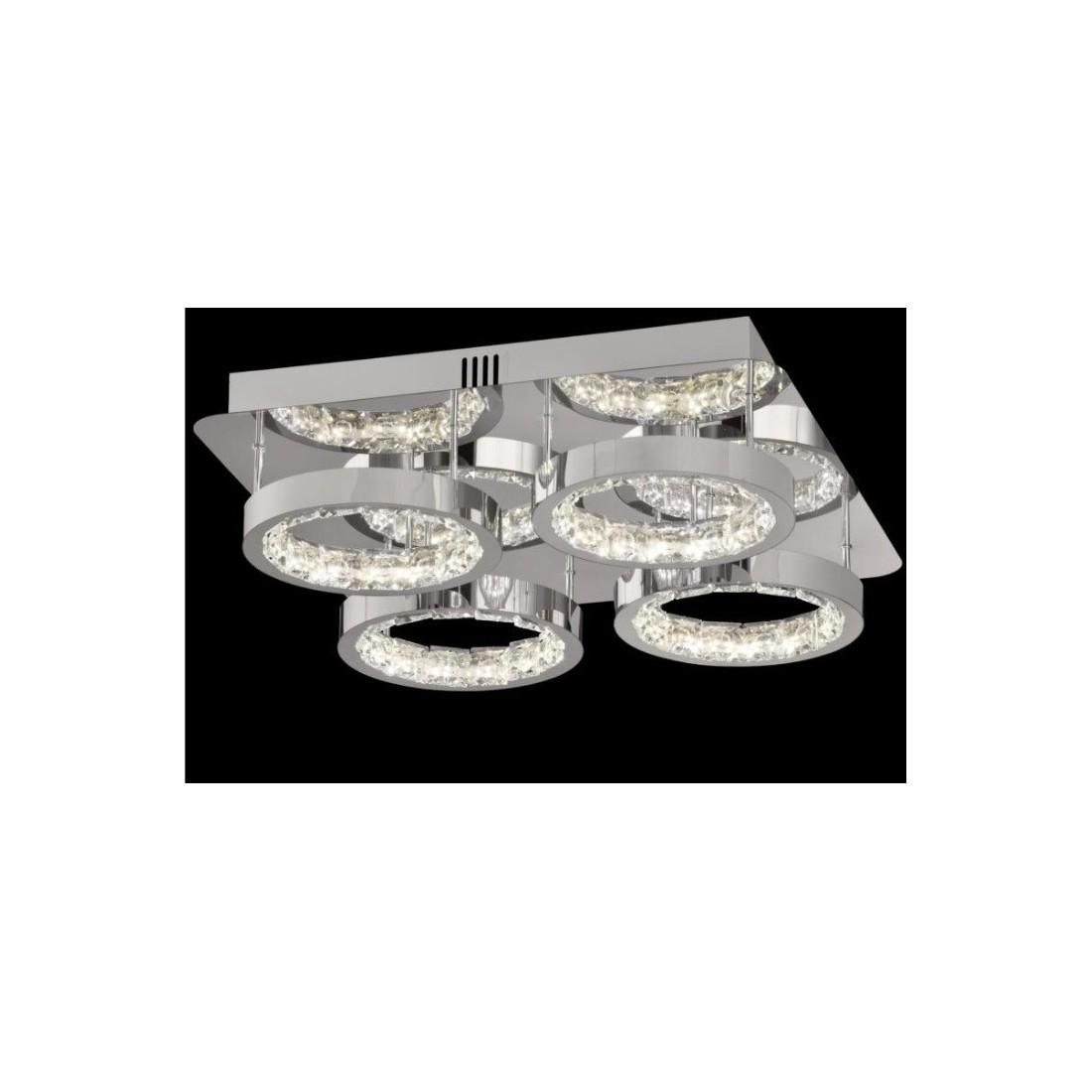 Luces de techo modernas con pantallas de tela redonda blanca - Iluminacion sevilla ...