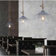Lámpara de Diseño de Acero Blanco Lacado