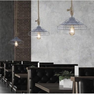 Luminaria blanca de acero lacado de dise o ofertas - Lamparas de diseno para salon ...