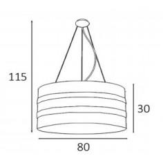 Lámpara de 2 Luces de Tela Marrón Topo
