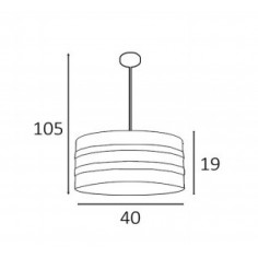 Lámpara de 3 Luces de Tela Color Topo