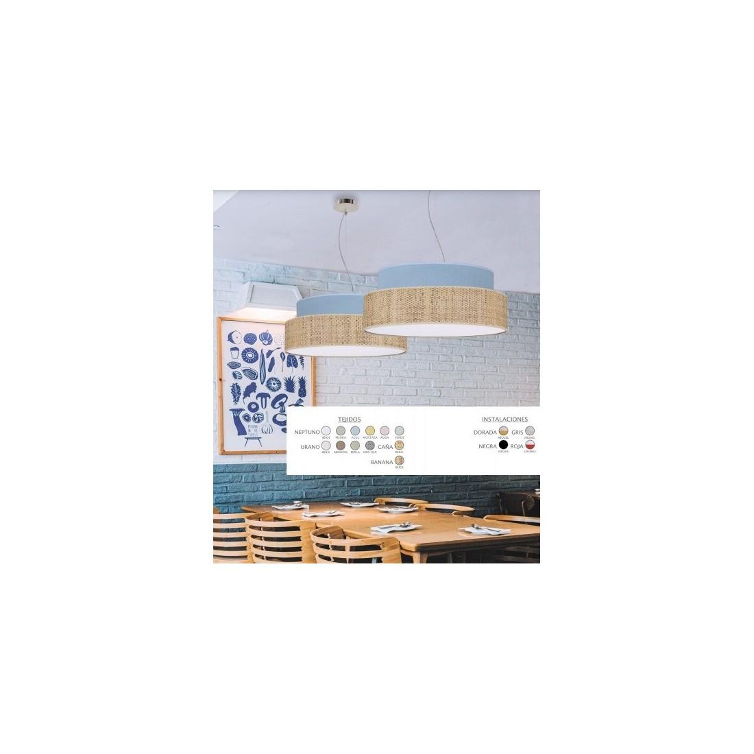 colgante modernos con pantalla de tela blanca ofertas