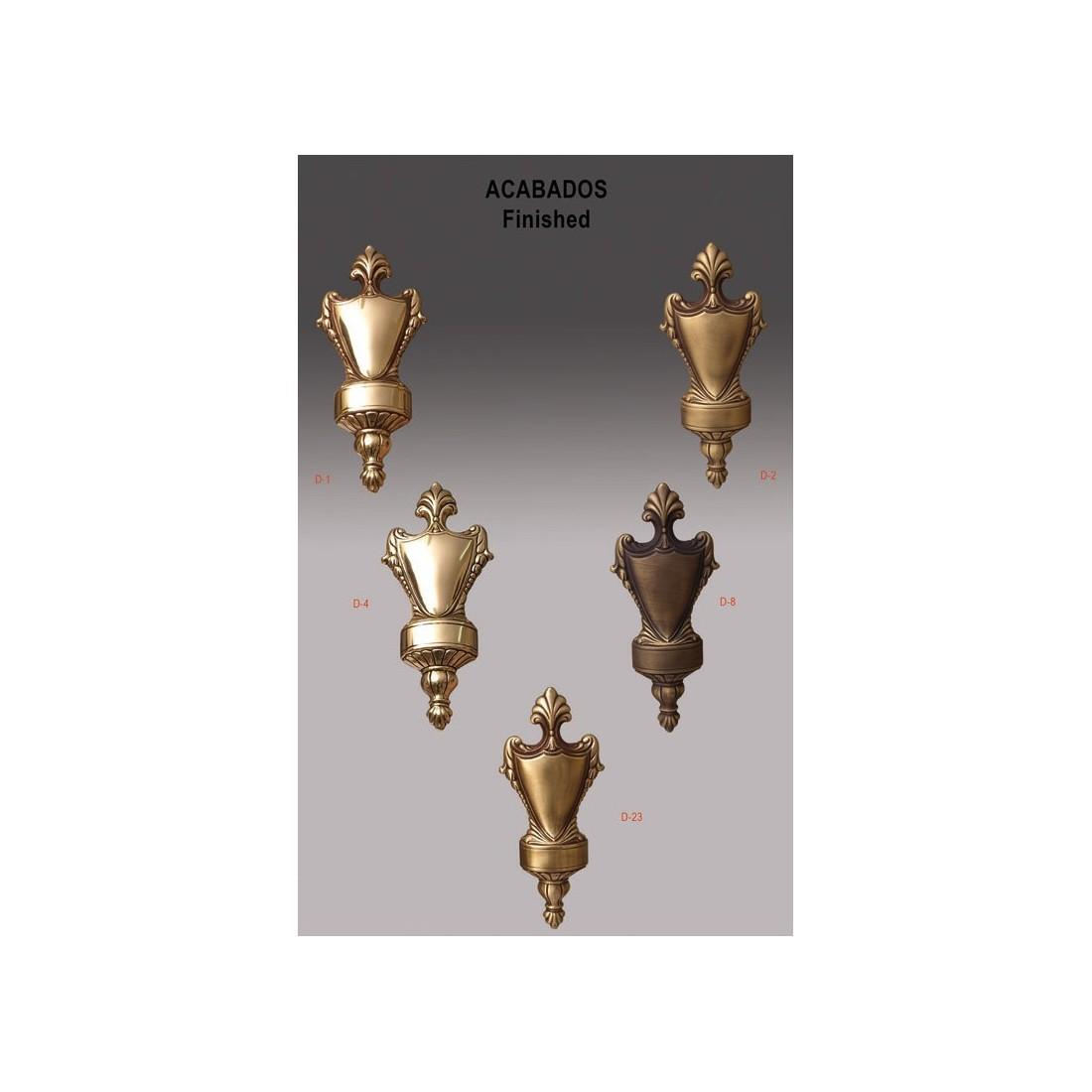 Farol de bronce 3 luces 6 caras sin cristales bombillas bajo consumo peso 30 15 kgs altura - Lamparas techos altos ...