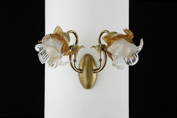 Lámpara de bronce de 9 luces fabricada en España