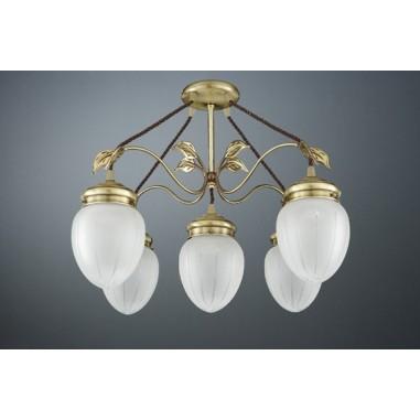 Luminarias de colgar de bronce con 3 brazos env o r pido - Lamparas de colgar ...