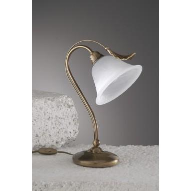 L mpara de bronce de 5 brazos con tulipas de cristal for Lamparas de techo exterior