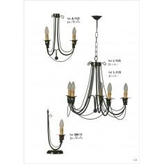 apliques de forja apliques de hierro lamparas pared