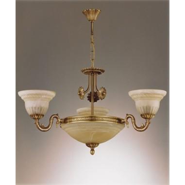 Lámpara Plafón de Bronce